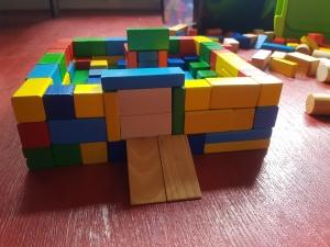 een houten versie van een game omgeving
