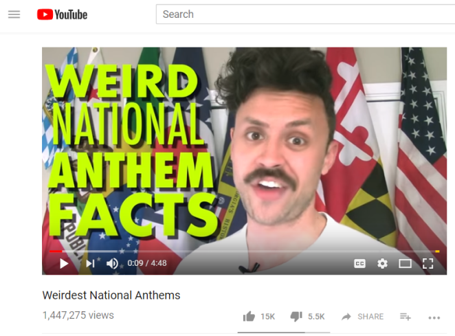 weird national anthems