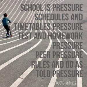 schoolsysteem pressure