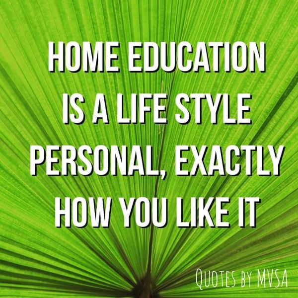 homeschooling is personal