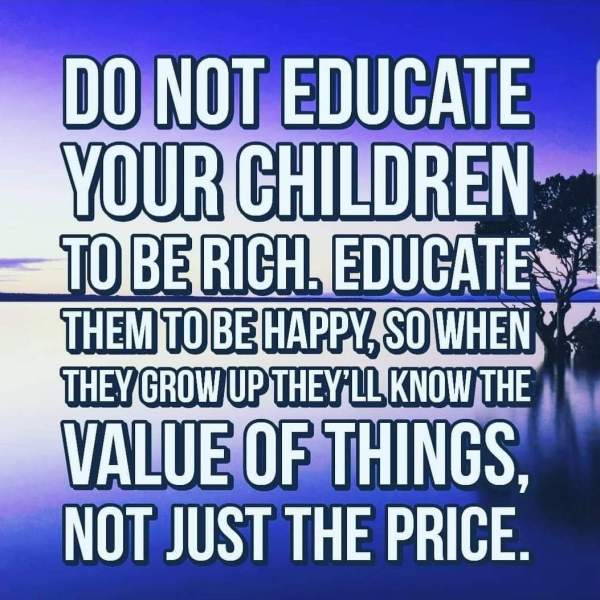 educate them to be happy